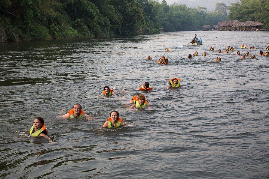 Река Квай на карте Тайланда