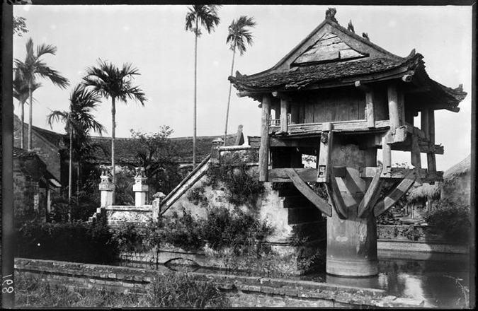Chua Mot Cot (старое фото) Ханой